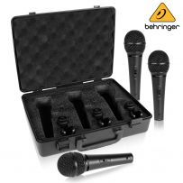 Behringer XM1800S Ultravoice Dynamic Microphones with Case & Clips - Pack of 3