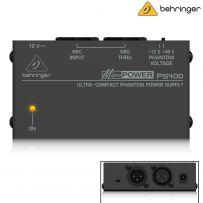 Behringer PS400 MicroPower Pre-Amp Phantom Power Supply for Mics - 12V/48V