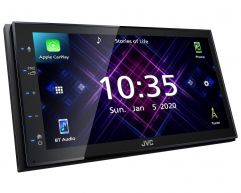 """JVC KW M560BT 6.8"""" Car Stereo with USB Bluetooth Apple CarPlay Android Auto Multimedia Receiver"""