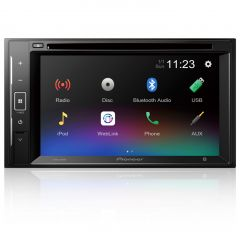"AVH-A240BT Pioneer 6.2"" Double Din Touch Screen CD/DVD Car Stereo with Smartphone Mirroring, Bluetooth & USB"