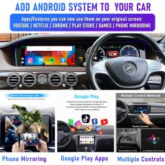 Add Android System to your Audi Mercedes, VW Porsche etc. with Factory CarPlay for Netflix, Maps, YouTube & Playstore