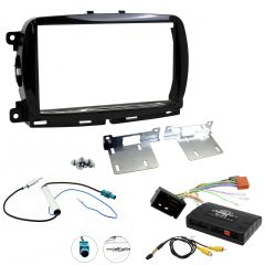 Complete Fascia Fitting Kit for Fiat 500 (2015 - 2021) with Steering Wheel Controls