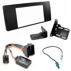BMW X5 99-06 Double Din Fascia Panel Steering Control Car Stereo Fitting Kit