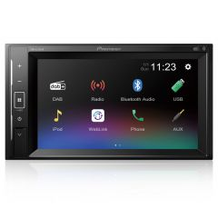 "DMH-A240DAB Pioneer 6.2"" Double Din Touch Screen Car Stereo DAB Radio with Smartphone Mirroring, Bluetooth & USB"