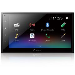 "DMH-A340DAB Pioneer 6.8"" Double Din Touch Screen Car Stereo DAB Radio with Smartphone Mirroring, Bluetooth & USB"