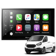 "Pioneer SPH-EVO82DAB-FOR for Ford Transit Custom and 2T 8"" DAB+ Radio, Android Auto and Apple CarPlay, Bluetooth Car Stereo"