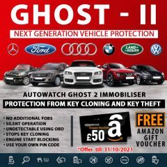 Autowatch GHOST 2 Immobiliser Tassa Approved Key Clone Theft Protection + FREE Amazon Gift Voucher