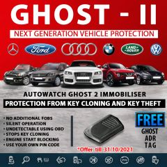 Autowatch GHOST 2 Immobiliser Vehicle Security +  FREE Ghost ADR Tag