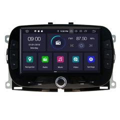 """7"""" Android 10 Car DVD GPS Navigation Stereo Multimedia Player Custom Fit For Fiat 500 X 2016-2019"""