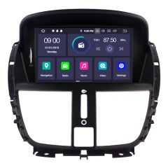 """7"""" Android 10 Car GPS Navigation Stereo Multimedia Player with CD/DVD Custom Fit For Peugeot 207 2007-2014"""