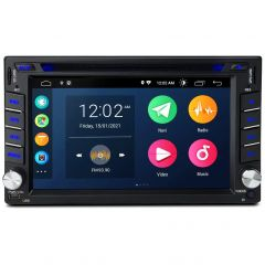 6.2 Inch Android 10 Navigation System Double Din Car DVD Player Stereo with Carplay Universally Fit