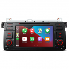 """PSA7046B 7"""" Android 10 Car GPS Navigation Multimedia DVD Player Custom Fit for BMW E46"""