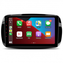 9'' Android 10 Large IPS Screen Car Stereo Multimedia Player with Built-in CarPlay Custom Fit for Mercedes-Benz Smart Fortwo 2015-2018