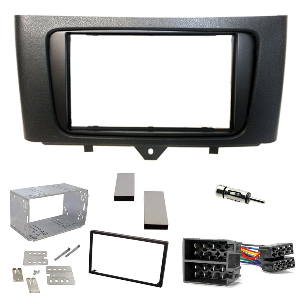 Smart Fortwo 2010 15 Double Din Oem Fascia Panel Car Stereo Fitting Mazda 3 Cd Kit Wiring Loom Ebay