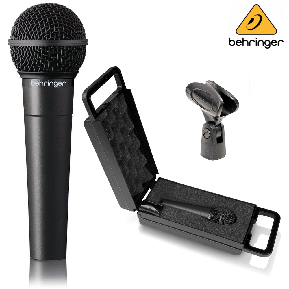 behringer xm8500 ultravoice dynamic handheld microphone with stand clip case ebay. Black Bedroom Furniture Sets. Home Design Ideas