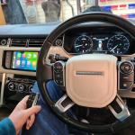 Apple CarPlay Interface in Range Rover Vogue 2017