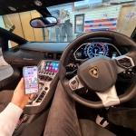 Apple CarPlay Interface on OEM Lamborghini Aventador