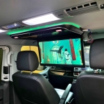 BIG ROOF SCREEN 20inch 50cm INSTALLATION in VW CARAVELLE