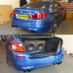BMW M5 12 Inch JL Audio W7 Sub and Amp Install