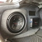 Custom Sub Box and Amp Installation in Audi A4