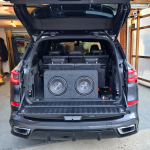 Double 10inch Pioneer Subwoofer Box in BMW X5 2020