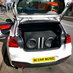 Dual Pioneer 12 Inch 400W RMS Subwoofer fitted in BMW 1 Series