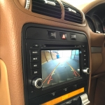 Dynavin Stereo Reverse Camera Fitted in Porsche Cayenne