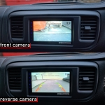 Front Reverse Camera on Pioneer Stereo in Toyota Proace