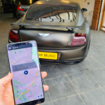 GPS Tracking System in Bentley Continental GT