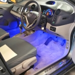 HD Touchscreen Stereo Footwell Lights Fitted in Honda Insight