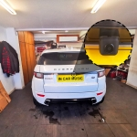 MMT820 Wedge Reversing Parking Camera With Guidelines     Fitted in Range Rover Evoque
