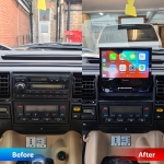Pioneer AVH Z7200DAB 7 Flip Out Display in Land Rover Discovery 2