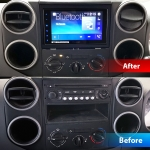 Pioneer CarPlay Android Auto Car Stereo fitted in Citroen Berlingo