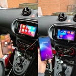 Pioneer CarPlay Stereo in Smart Fortwo C453