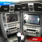Porsche 977 Carerra 4S Replaced Factory Stereo with Pioneer SPH DA230DAB