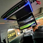 Roof Mounted Monitor Ultra Thin 15.6 FHD USB     Fitted in Toyota Vellfire Van