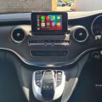 Wireless Apple CarPlay interface on Mercedes Vito original stereo