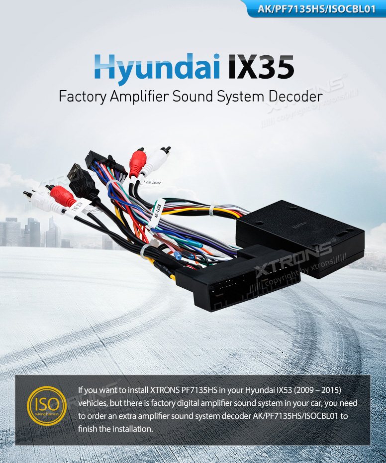 Hyundai Ix35 Xtrons Stereo Iso Wiring Harness Amplifier Sound Decoder